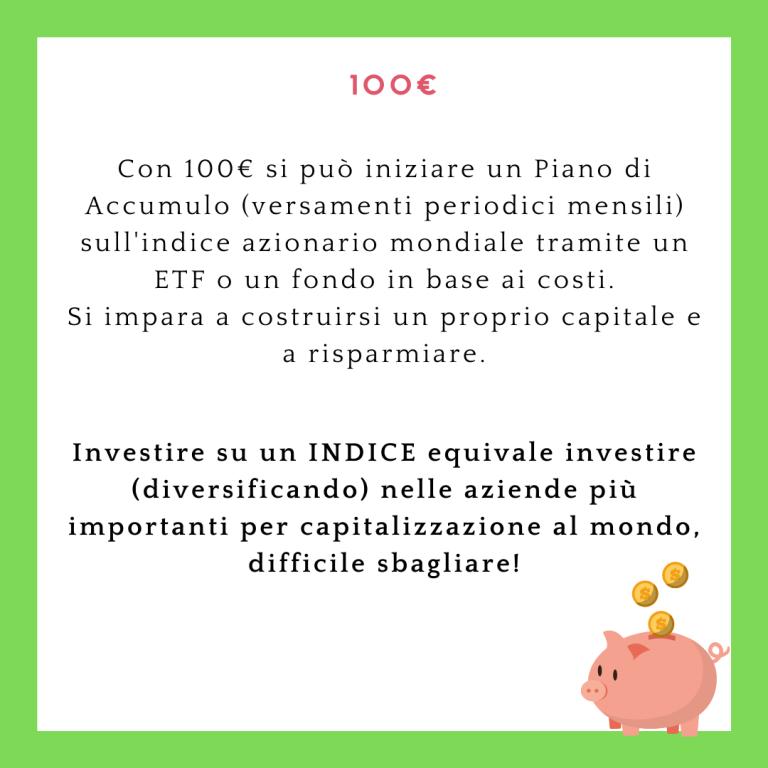 100 euro - piano di accumulo