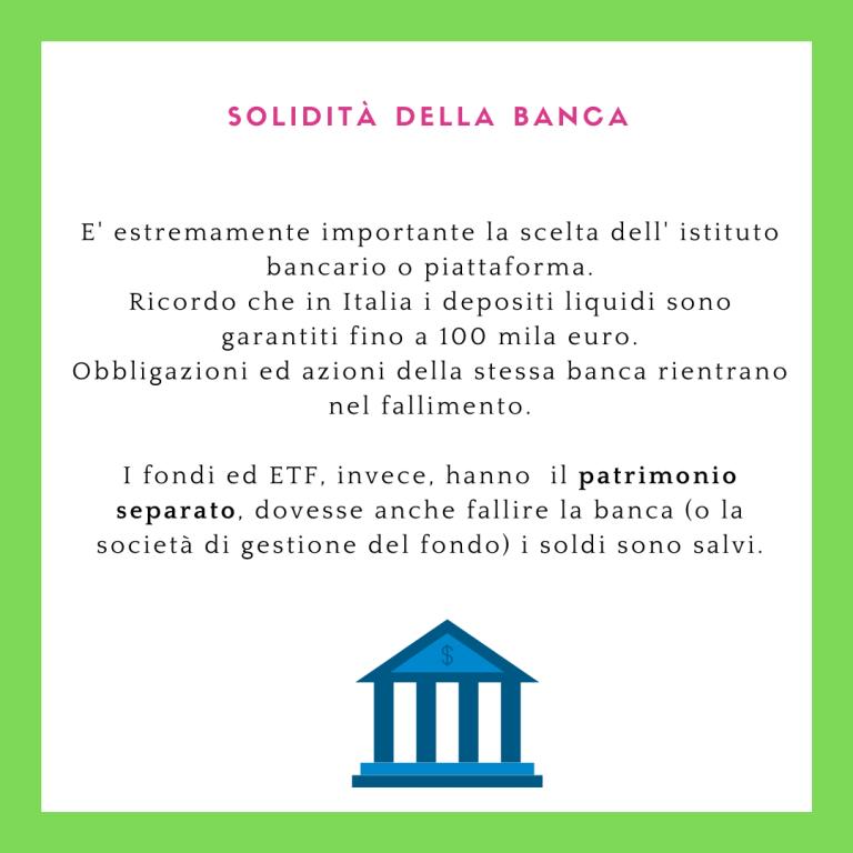 Solidità della banca