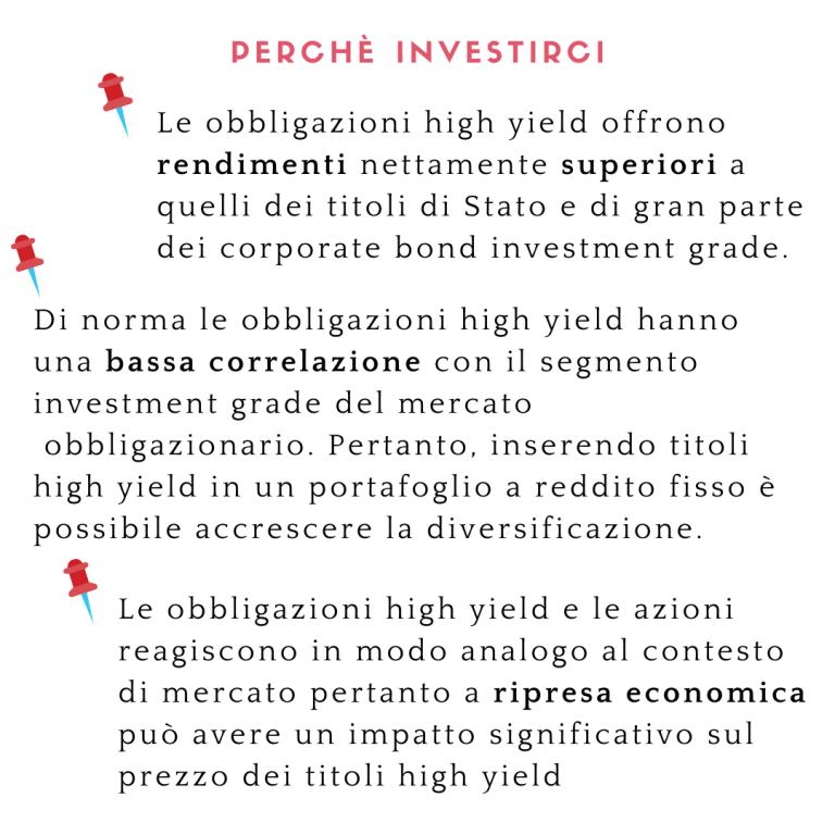 Perchè investire in high yield