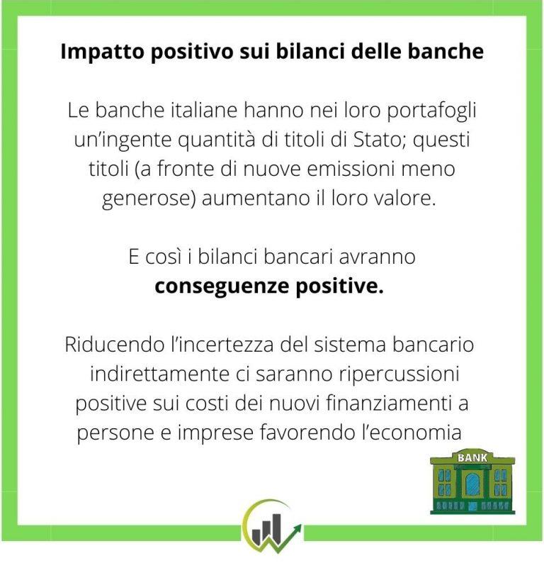 impatto positivo su banche